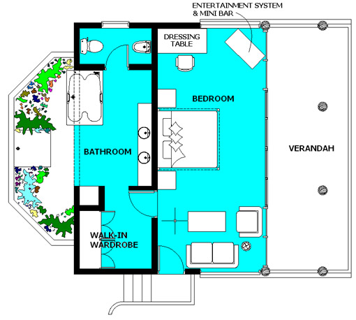 Plan View of the Hideaway Villa