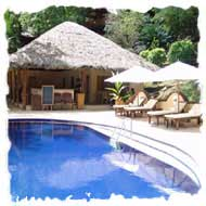 Reception and pool area at Cerf Island Resort Seychelles