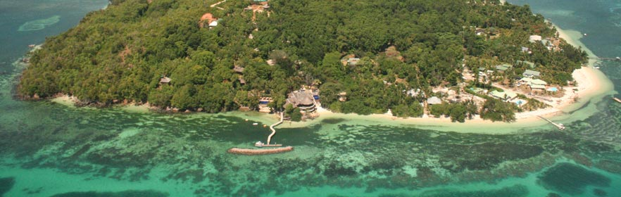 Aerial view of Cerf Island Resort